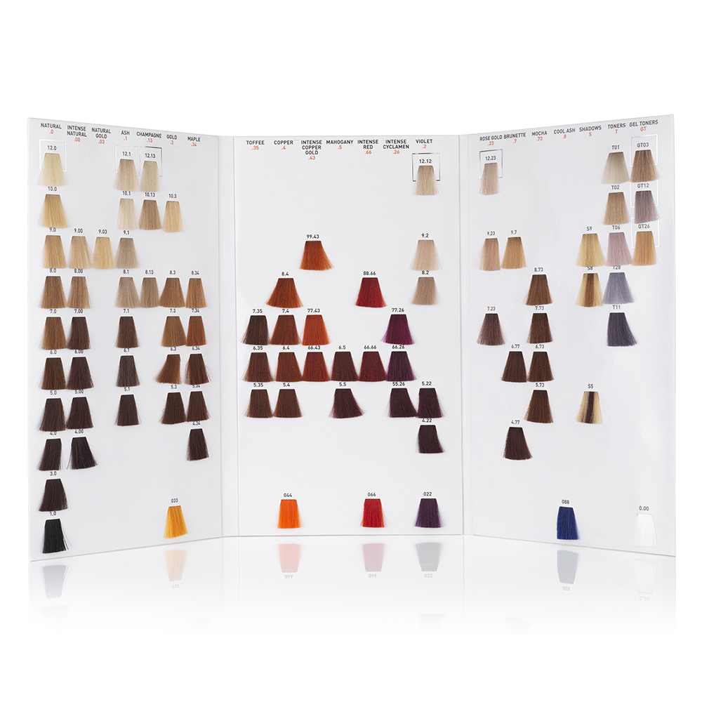 FUDGE COLOUR SHADE CHART